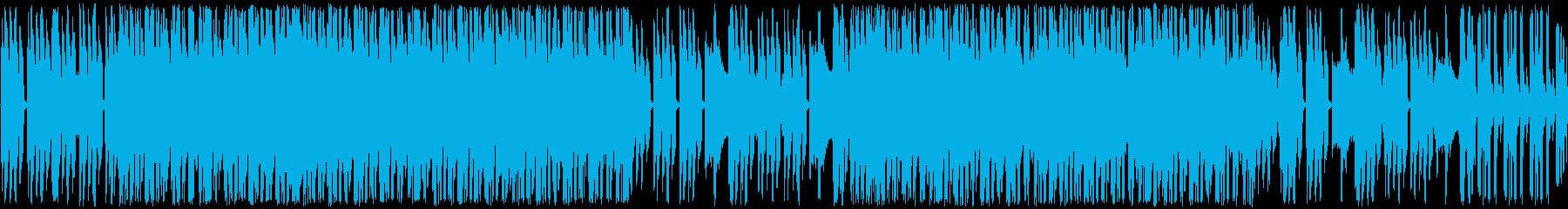 切ないヒップホップビートの再生済みの波形