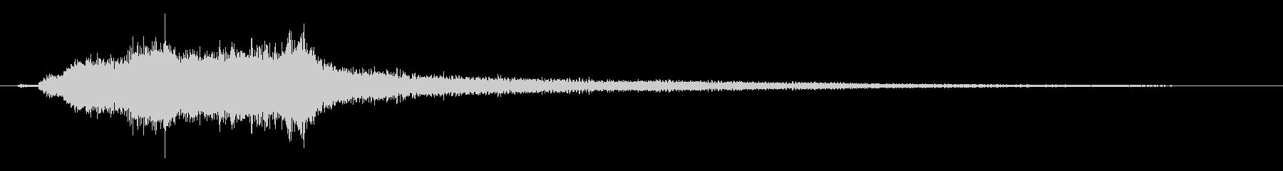 ホラー ピアノ弓弦ブロークン01の未再生の波形