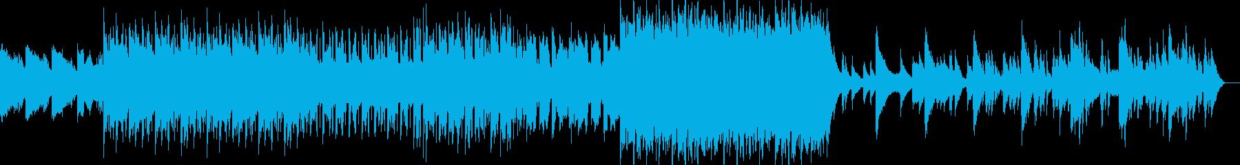 様々なメロディを含んだ、レトロな空間の再生済みの波形