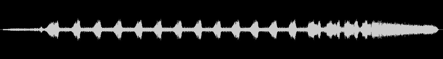 ツクツクボウシの鳴き声、一匹の未再生の波形
