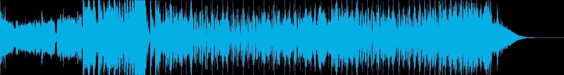 壮大な感じのエレクトロハウスなジングルの再生済みの波形