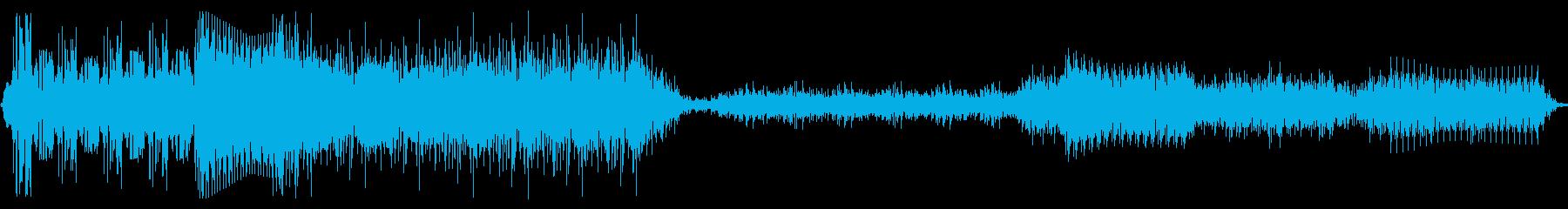 誤作動スワイプ1の再生済みの波形