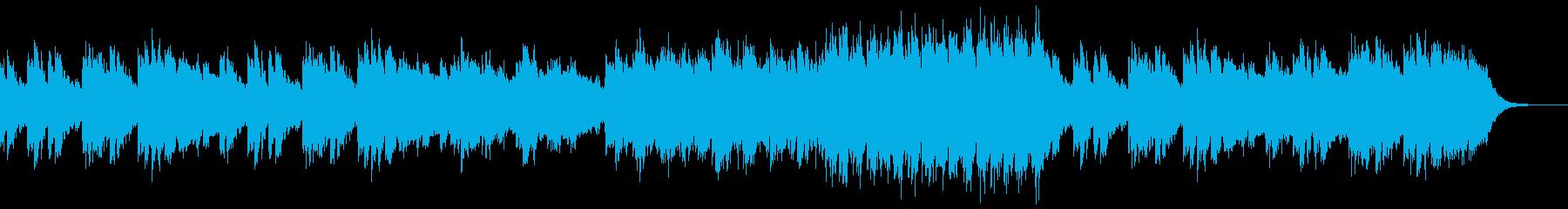 シンプルなピアノインストー疑問の再生済みの波形