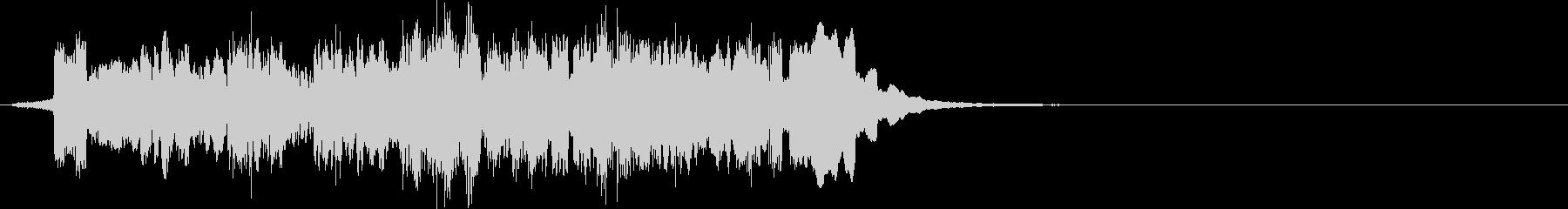 メロディアスなピコピコ電子音の未再生の波形