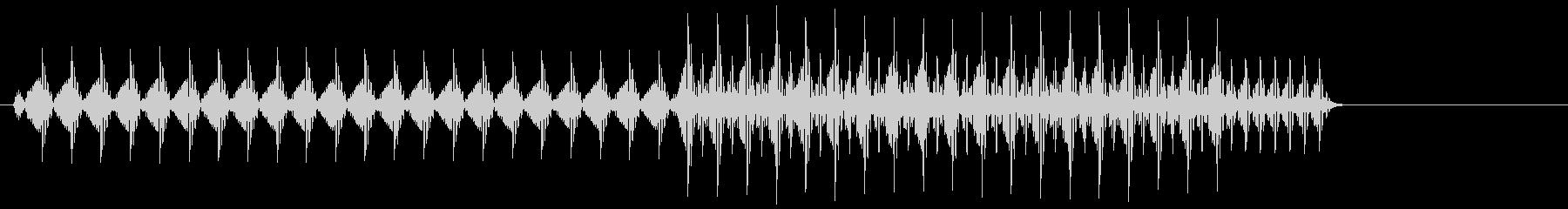 ビコッ(デジタル・ボタン音・プッシュ音)の未再生の波形