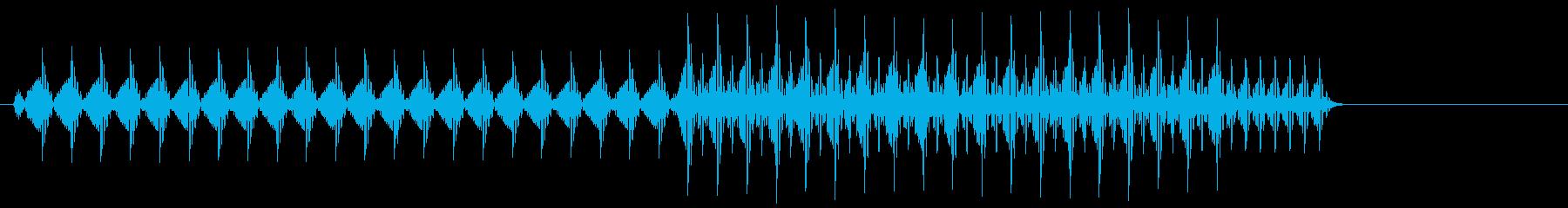 ビコッ(デジタル・ボタン音・プッシュ音)の再生済みの波形