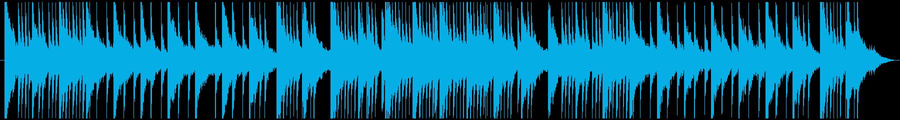 少し哀愁を感じる和テイストなBGMの再生済みの波形