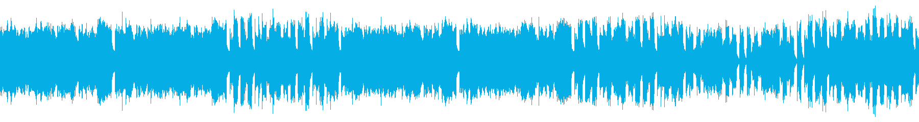 Loop material honky game music's reproduced waveform