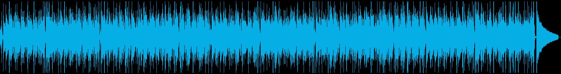 ウクレレのトロピカルな夏のレゲエ風BGMの再生済みの波形