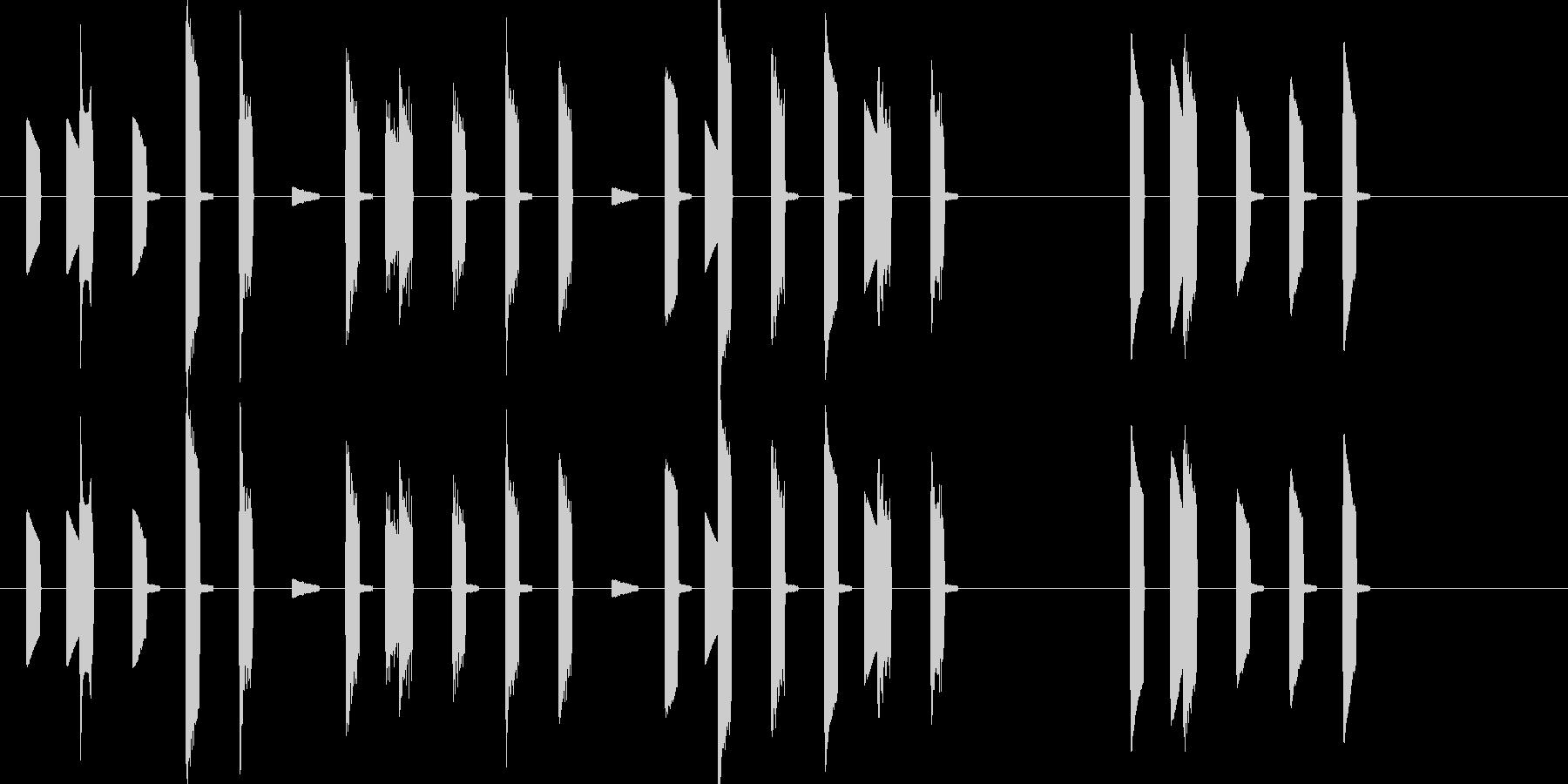 ハッピーバースデー 8bitの未再生の波形