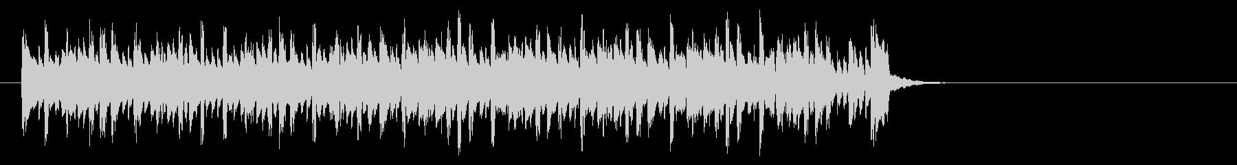 キャッチーなテクノポップ(イントロ)の未再生の波形