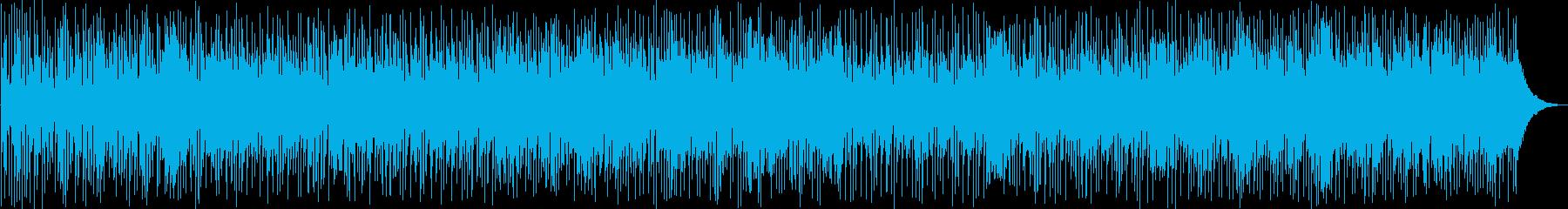 ワイルド感のあるファンクロックの再生済みの波形