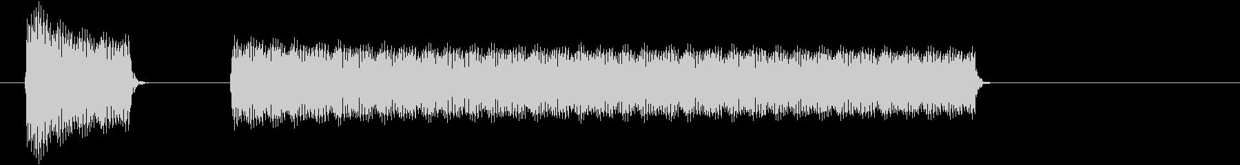 ブブー①(クイズ・不正解・ブザー音)の未再生の波形