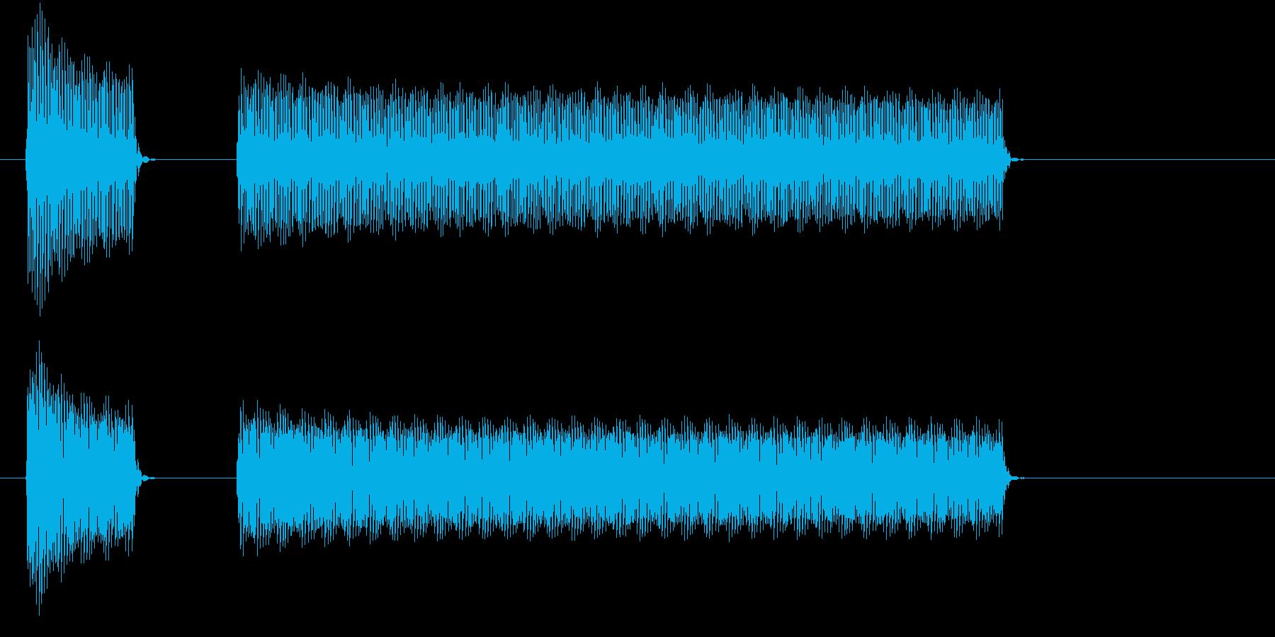 ブブー①(クイズ・不正解・ブザー音)の再生済みの波形