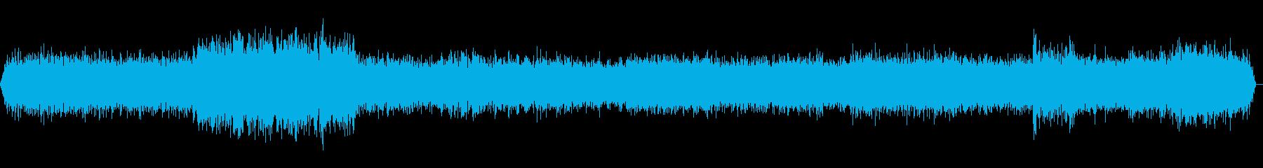 新幹線車内走行音 環境音(ステレオ)の再生済みの波形