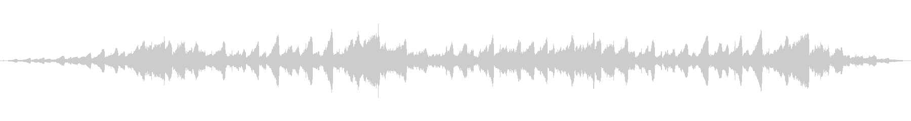 幻想的な音の未再生の波形
