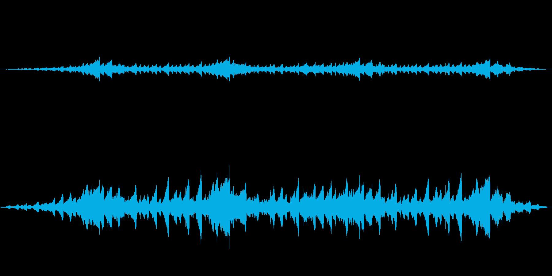 幻想的な音の再生済みの波形