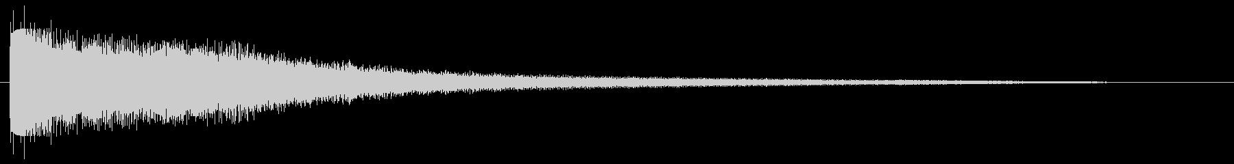 チーン(金属の音色)の未再生の波形