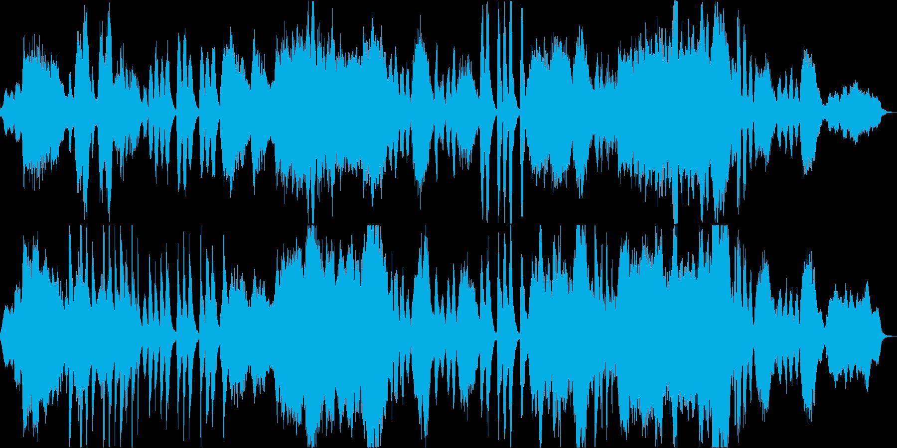 神秘的で幻想的、美麗なオーケストラ曲の再生済みの波形