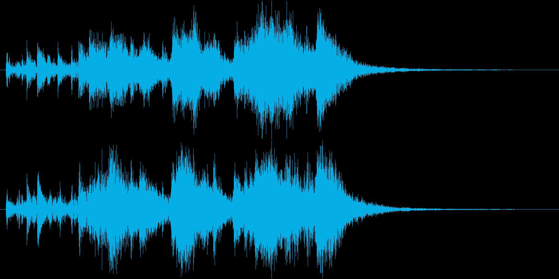 次の方どうぞ!話題&場面転換のジングルの再生済みの波形