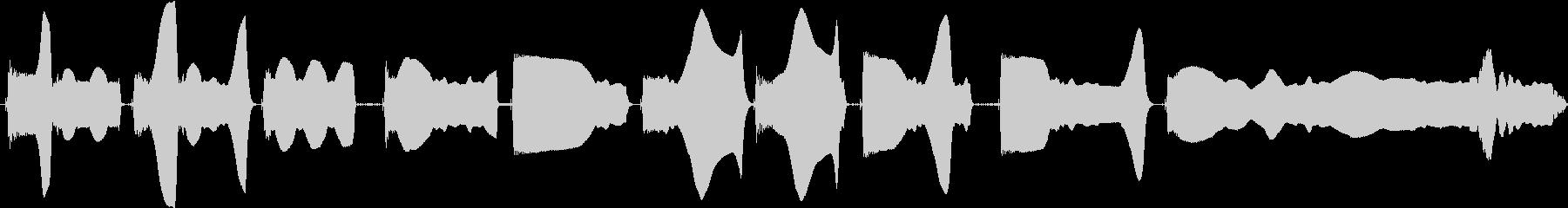 トーンベース変調の未再生の波形