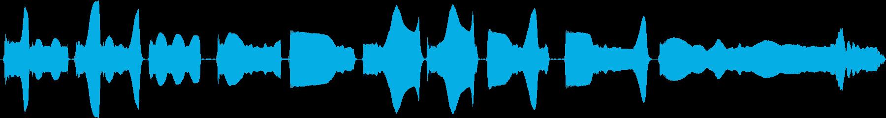 トーンベース変調の再生済みの波形