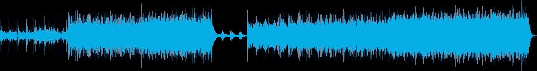 激情系ハードコア風のギター・インスト曲の再生済みの波形