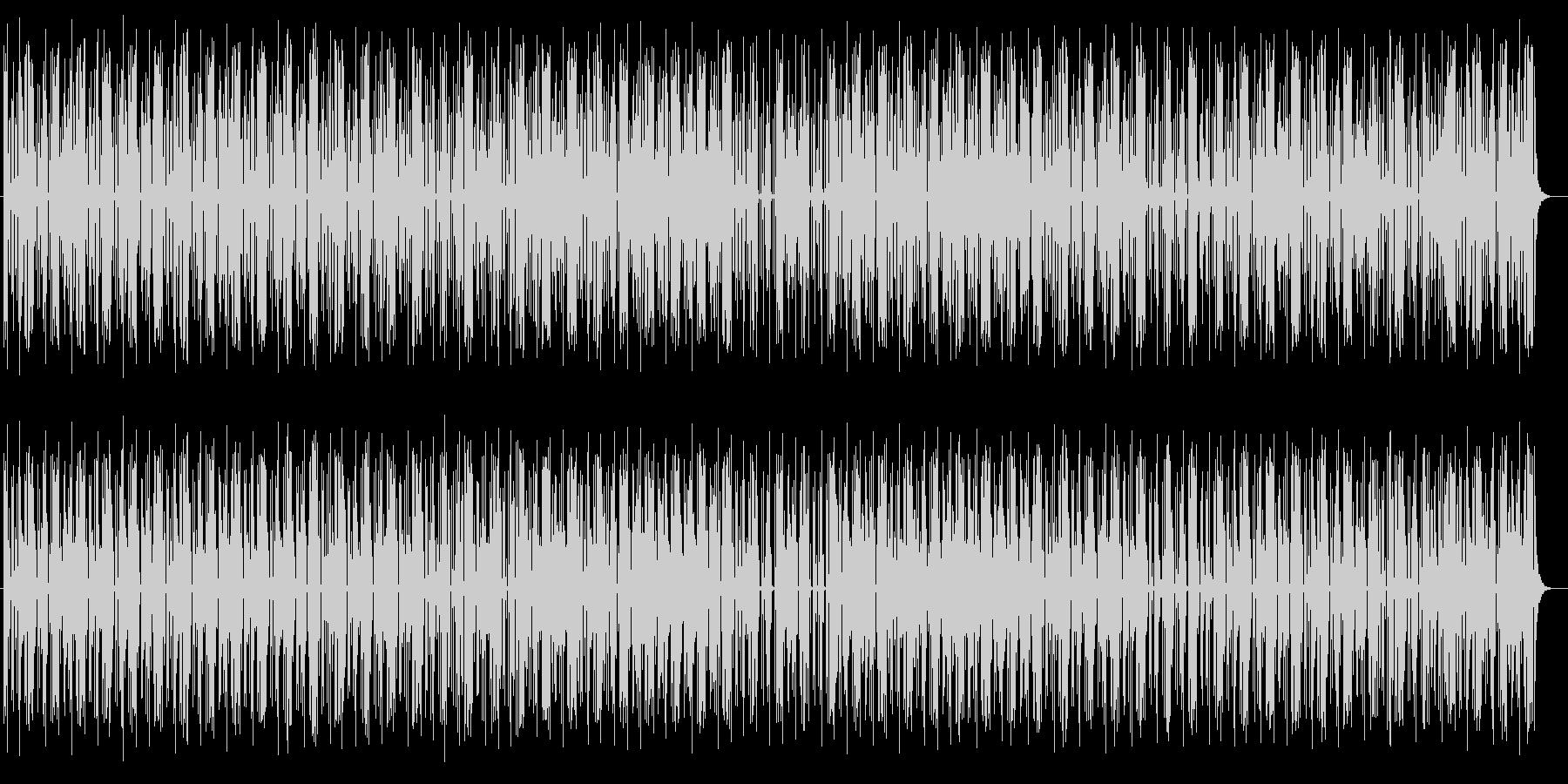 リズムよく軽快なミュージックの未再生の波形