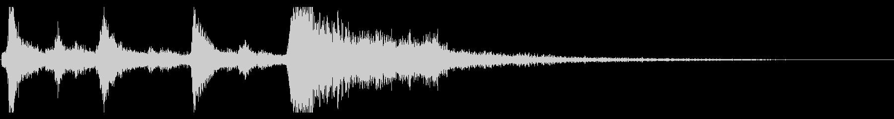 クリスマスのベル、鈴の効果音 ロゴ 12の未再生の波形