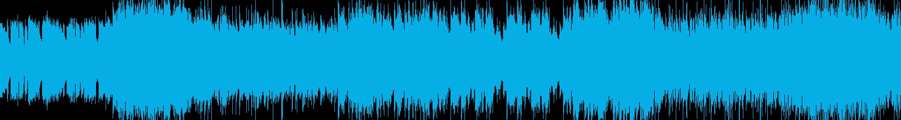 軽快なロックの再生済みの波形