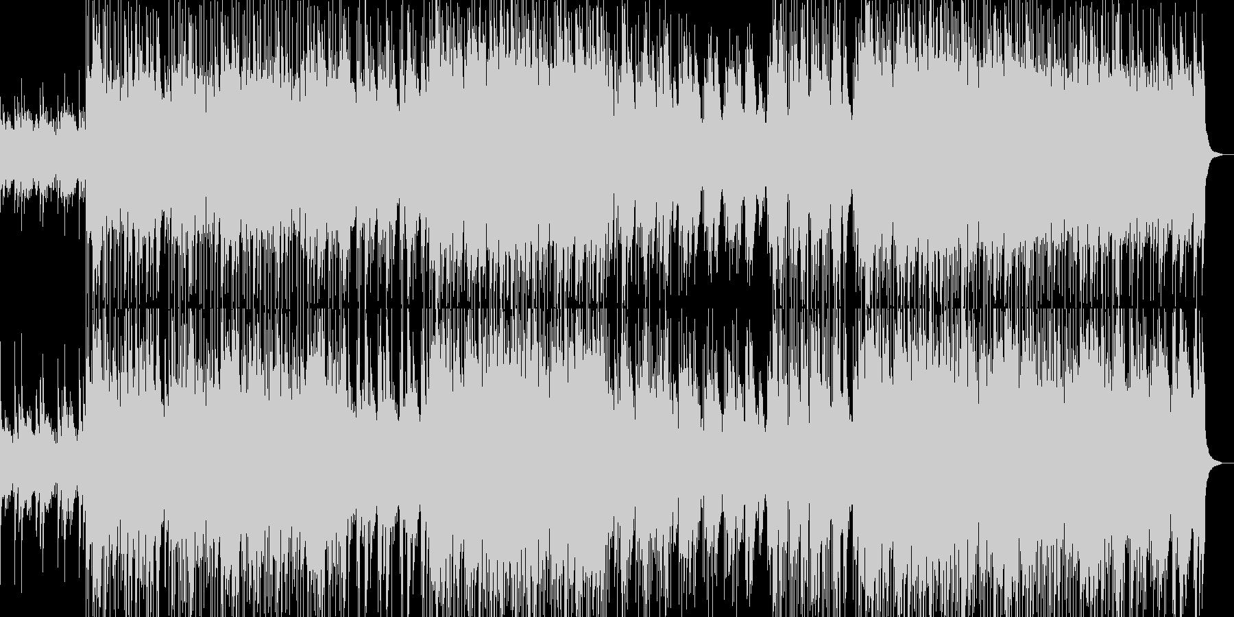 アップテンポで前向きなエレクトロポップの未再生の波形