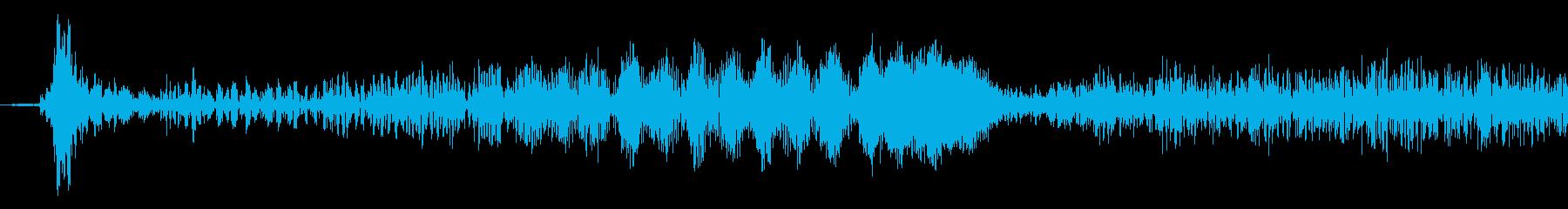 テレビスキャンを調整1の再生済みの波形