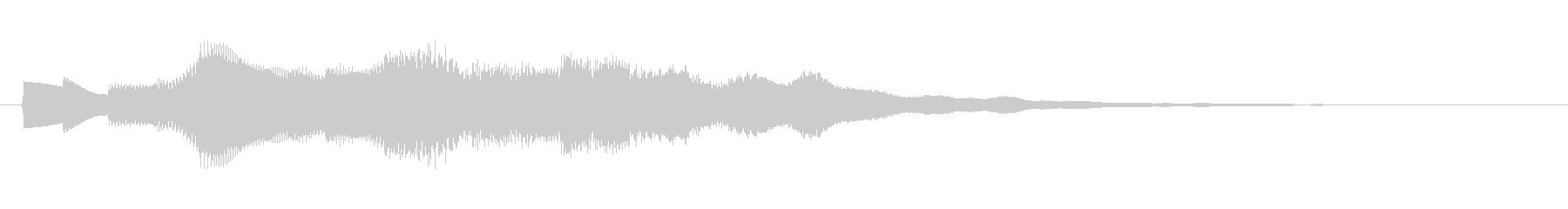 眠気を誘う心地よいサウンドロゴの未再生の波形