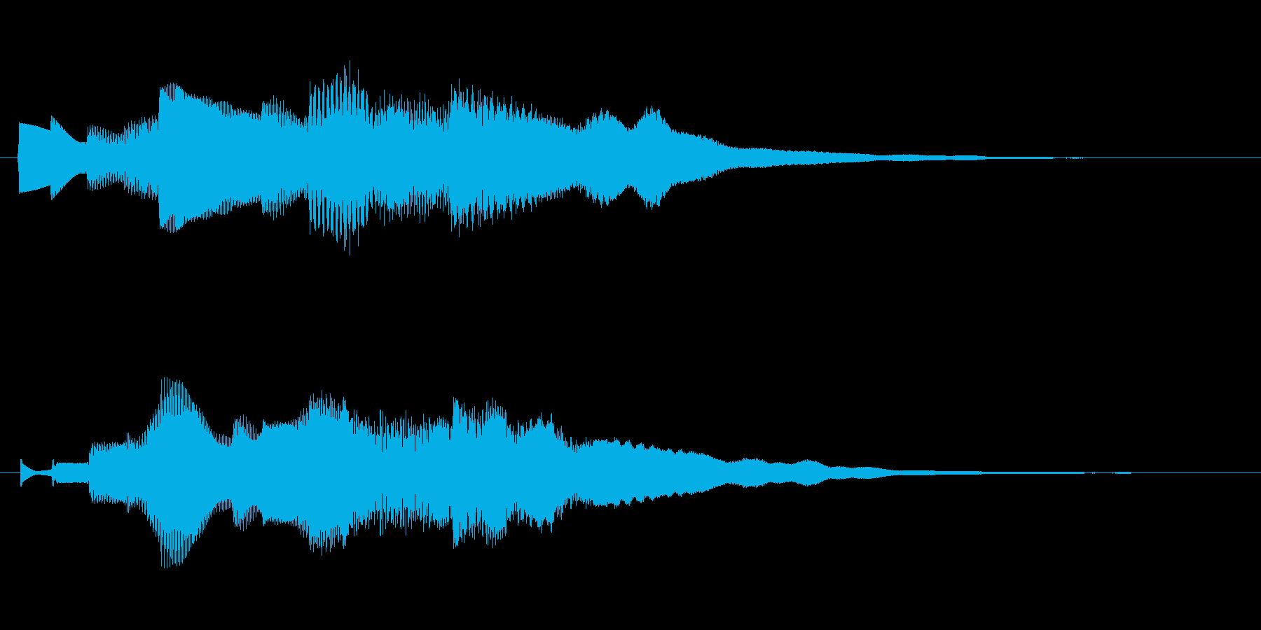 眠気を誘う心地よいサウンドロゴの再生済みの波形