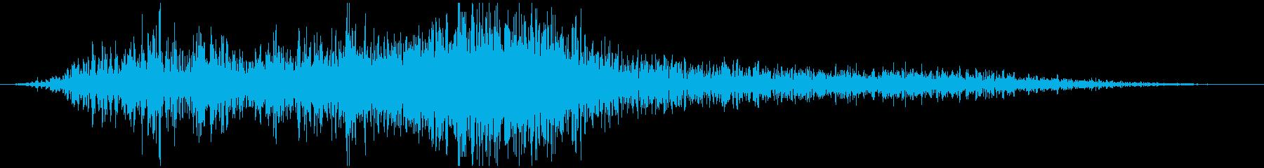 自動車通過音(左から右)の再生済みの波形