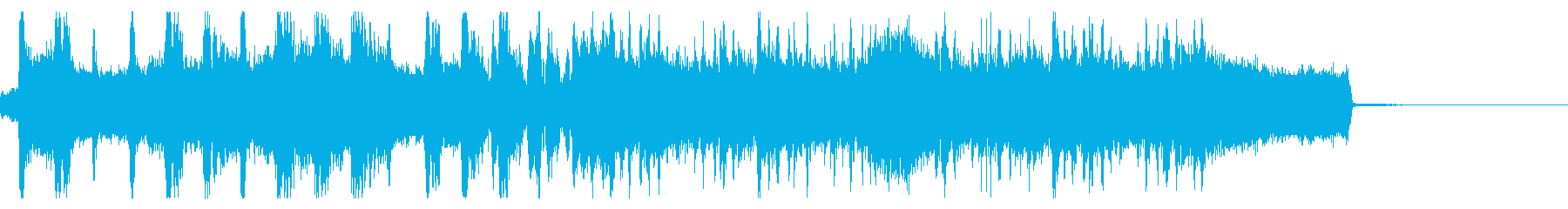 一気に駆け抜ける激しいロックジングルの再生済みの波形