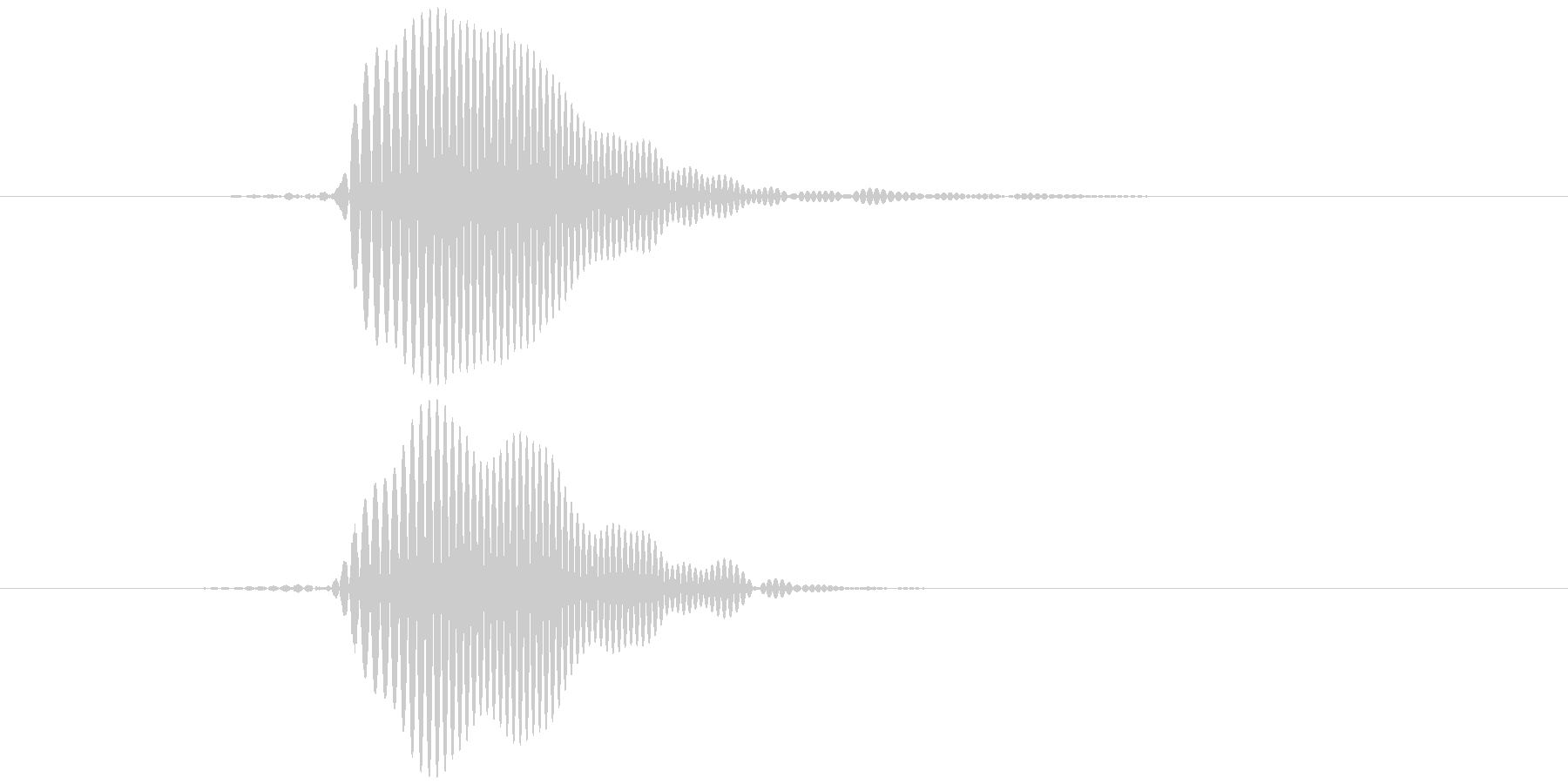パッ テロップ音など の未再生の波形