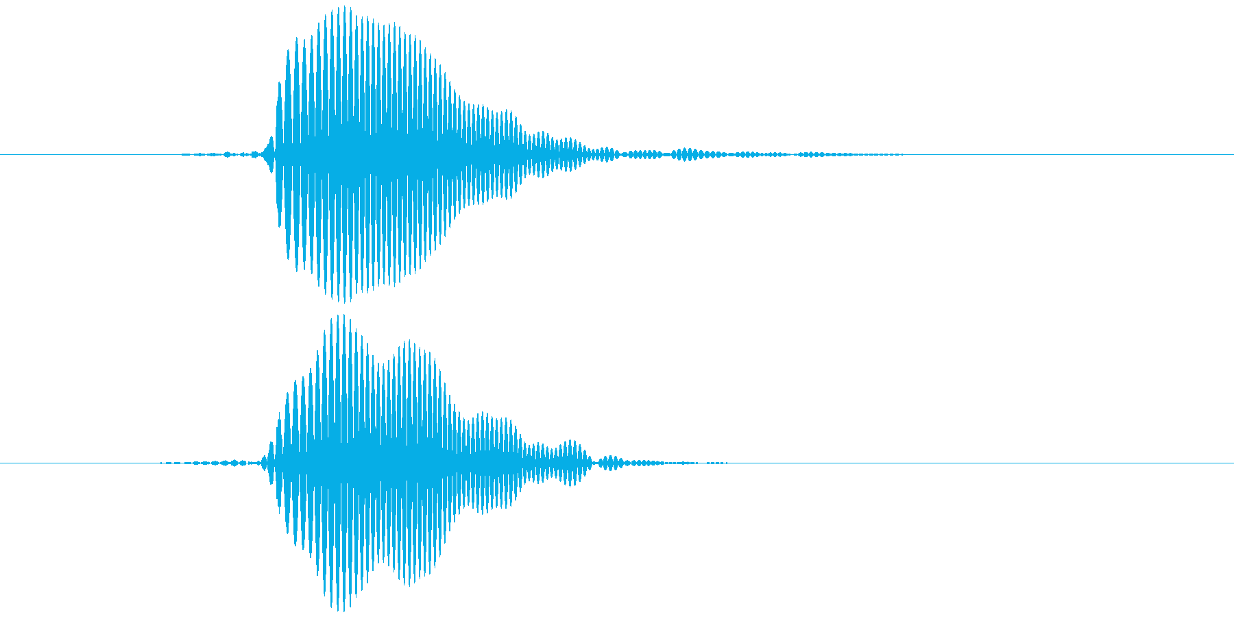 パッ テロップ音など の再生済みの波形