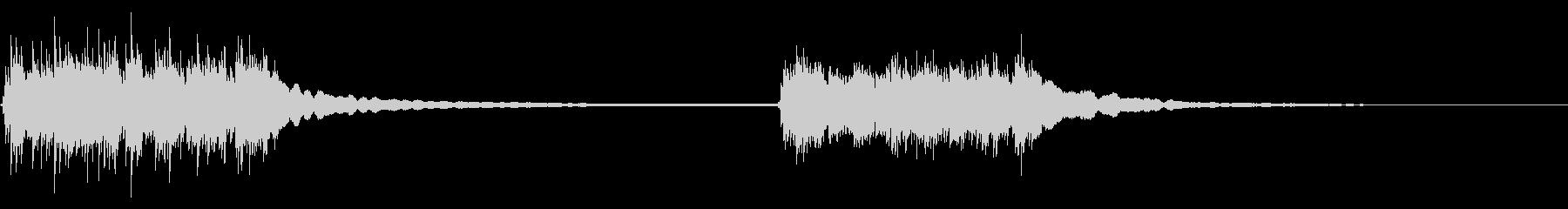 ベルリンガー付き回転式電話:2つのリングの未再生の波形