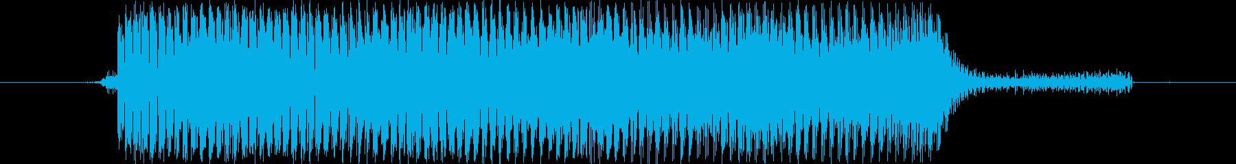 【効果音/電子音/機械/ビーム】の再生済みの波形