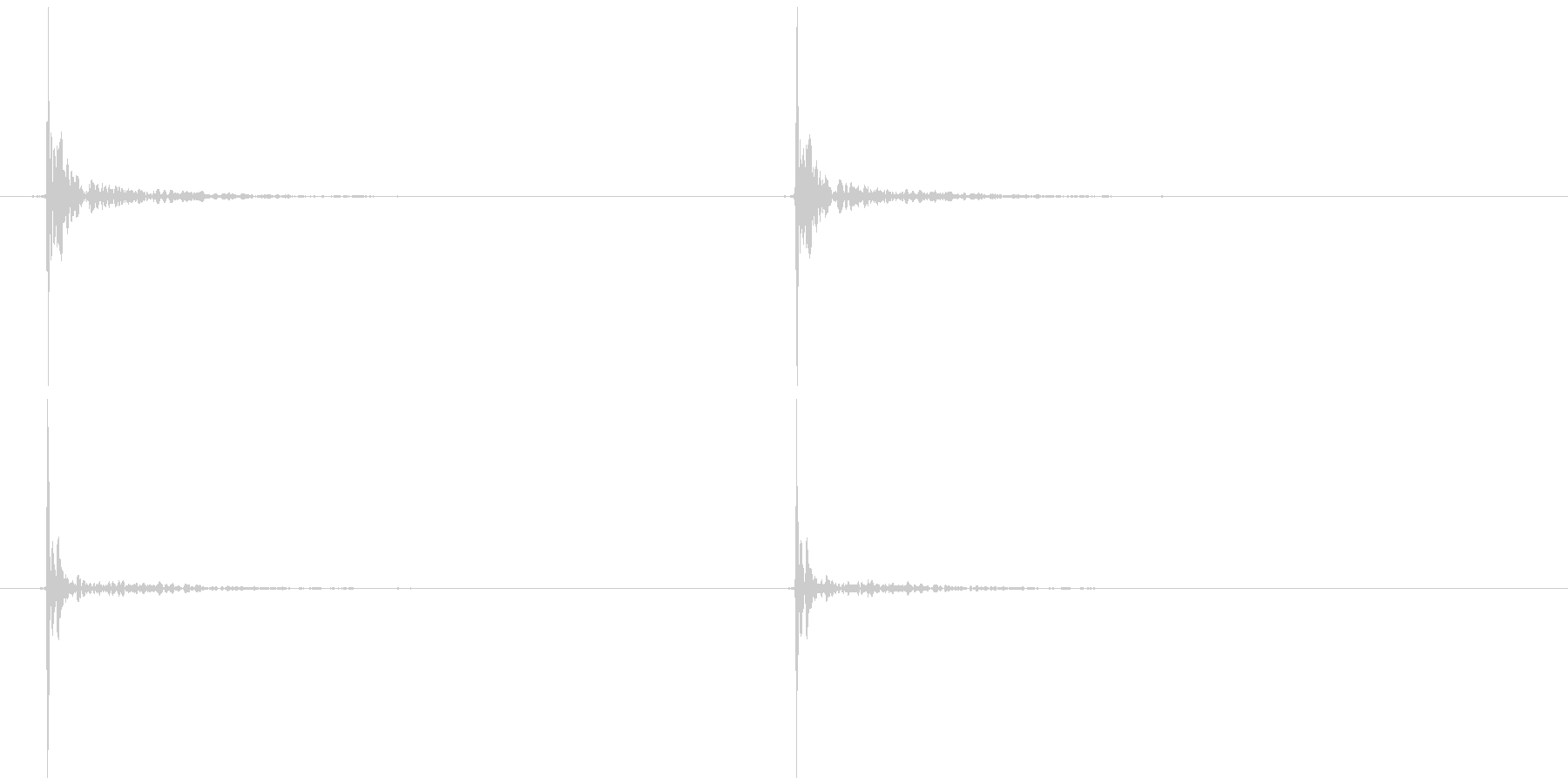 ノック(固いもの)カッ カッの未再生の波形