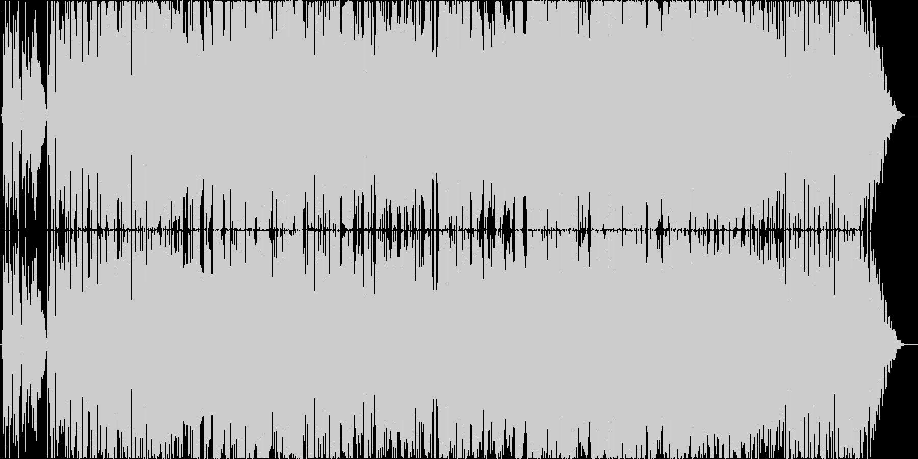 鮎の友釣りを題材にした夏の長閑なポップスの未再生の波形