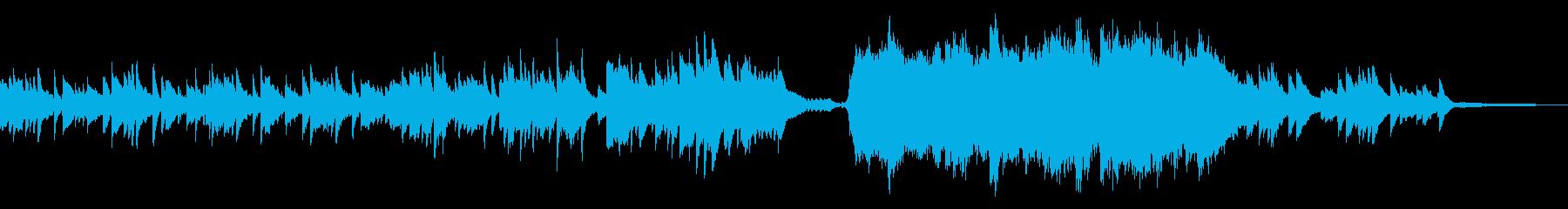 幻想的で物悲しい雰囲気のBGMの再生済みの波形