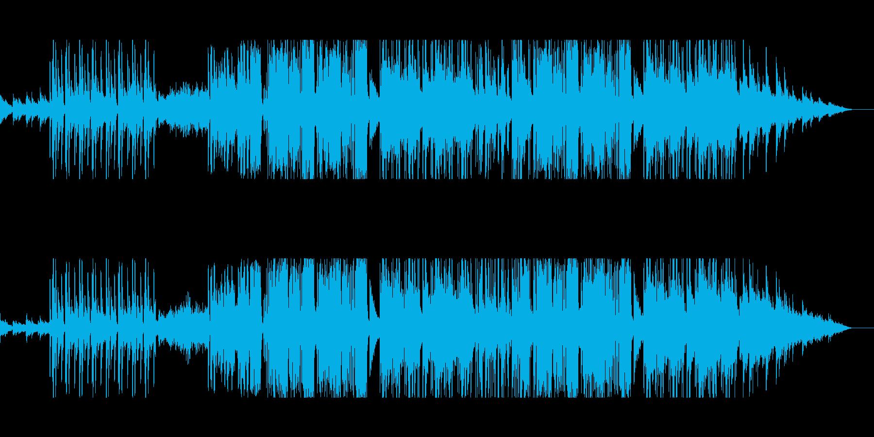 和の要素に少し重く攻撃的なビートの再生済みの波形