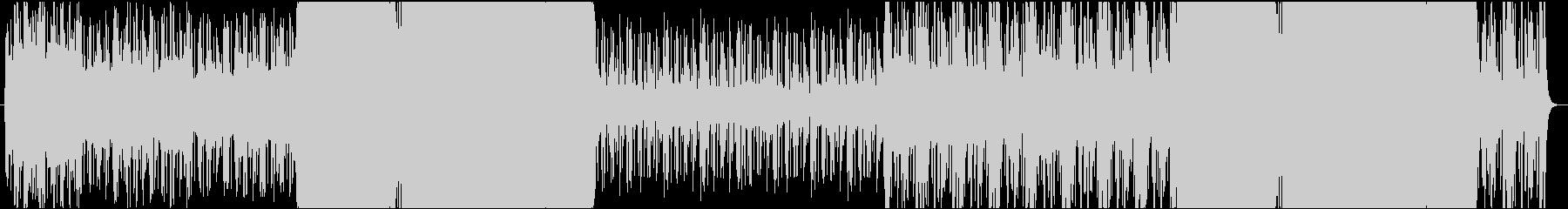 緊迫したリズムがメインのBGMの未再生の波形