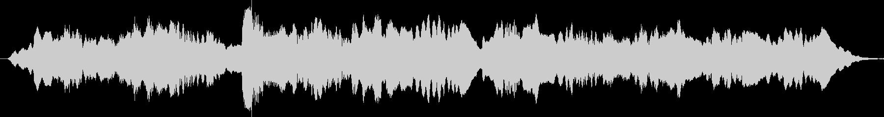 哀愁のあるフルートが印象的なブルースの未再生の波形