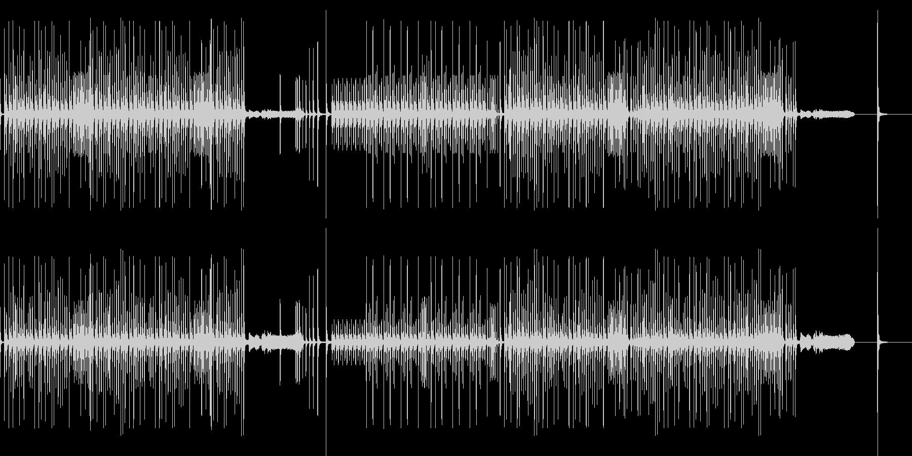 和楽器(打楽器のみ)でテンポの良いリズの未再生の波形