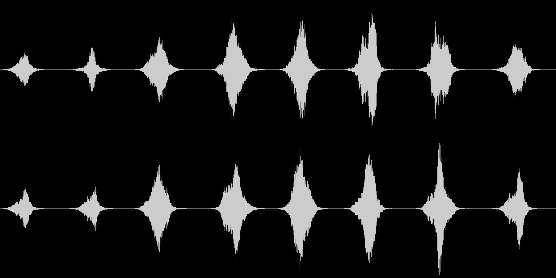 キーン…静かで冷たい恐怖の演出の未再生の波形