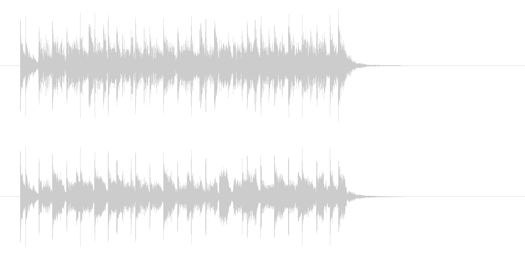 盛り上がるロカビリー風なジングル曲の未再生の波形