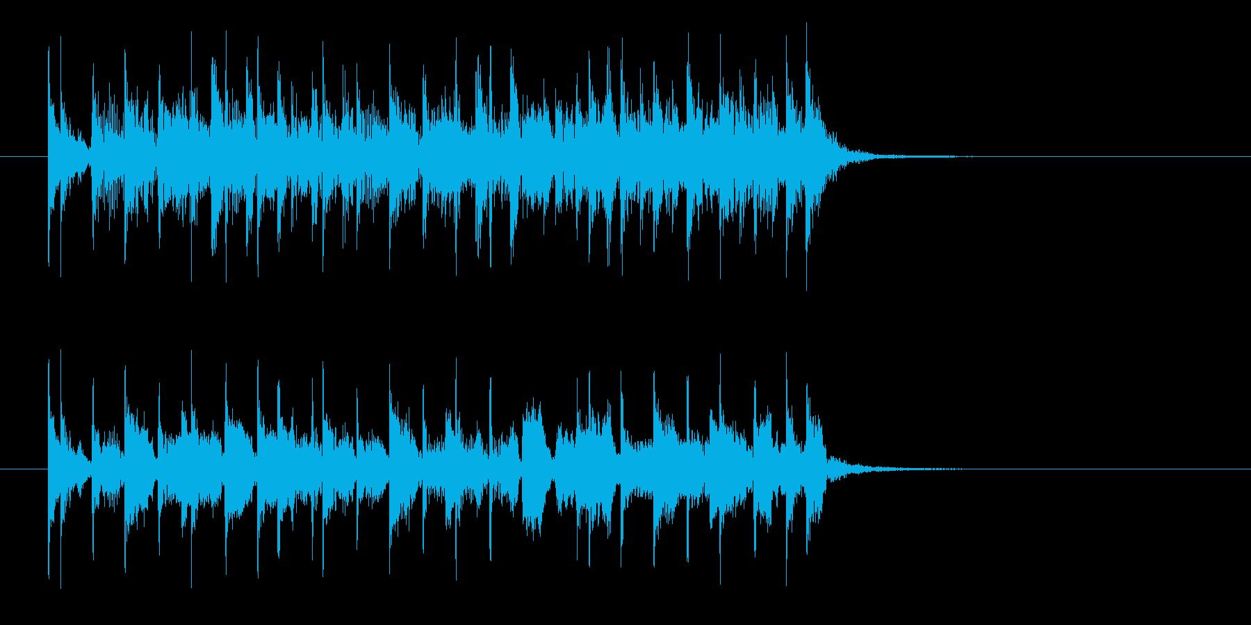 盛り上がるロカビリー風なジングル曲の再生済みの波形